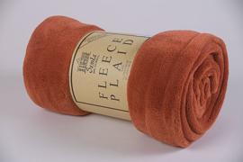 Fleecedeken 130x170 oranje + 1 naam geborduurd