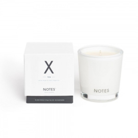 """X"" Geurkaars ""NOTES"", White Musk & Fresh Magnolia, medium"