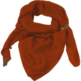 "Sjaal ""LOT83"", Puk, driehoekig oker roest"
