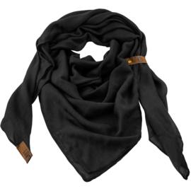 """Sjaal """"LOT83"""", Puk, driehoekig zwart"""