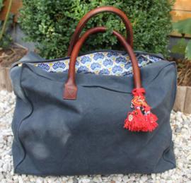 """Weekend Bag, 48H """"Les Belles Vagabondes"""", blauw, met of zonder naam"""