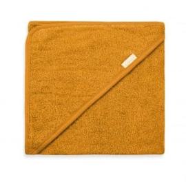 Badcape spons 80x80cm, oker geel, met of zonder naamborduring