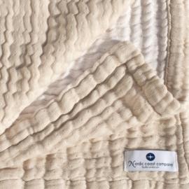 """""""Nordic coast company"""" mousseline Baby Deken, ivory white met of zonder naamborduring"""