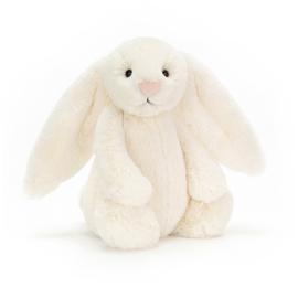 """""""JELLYCAT"""" Bashful Bunny, cream, met of zonder naam"""