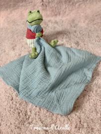 "Knuffeldoekje ""Jellycat"" Little Rambler Frog - Kikker met of zonder naamborduring"