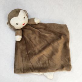 Knuffeldoekje aap met of zonder naamborduring