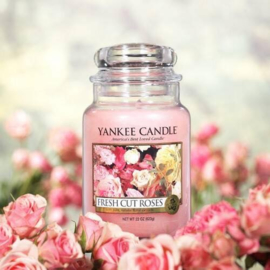 Yankee candle, Fresh cut roses, Jar large