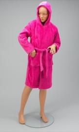 Kinder kamerjas fleece, fuchsia 4/6 jaar + 1 naam geborduurd