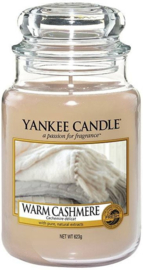 Yankee candle, warm Cashmire, Jar large