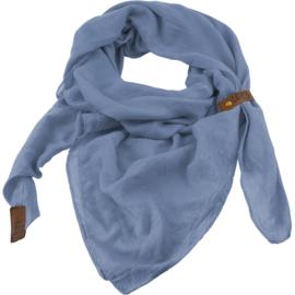 """Sjaal """"LOT83"""", Puk, driehoekig licht bauw/lavendel"""