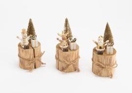 "Kerst figuurtjes op blok hout ""eland"""