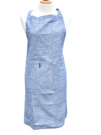 """Keukenschort """"Linen & More"""", blauw, met of zonder naamborduring"""