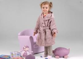 Kinder kamerjasje fleece, roos 3 j. + 1 naam geborduurd