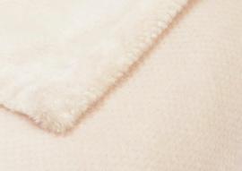 """Fleecedeken """"Calin"""" 130x170 gebroken wit met of zonder naamborduring"""