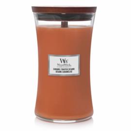 "WoodWick Jar Large ""Caramel Toasted & Sesame"""