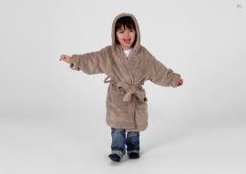 Kinder kamerjasje fleece, taupe 6 j. + 1 naam geborduurd