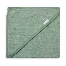 Badcape spons 80x80cm, stone green, met of zonder naamborduring
