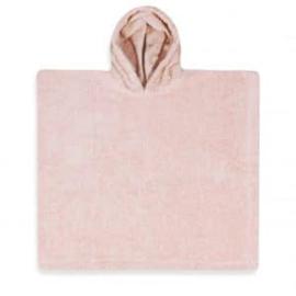 Poncho in badstof, 2-5j, licht roos, met of zonder naamborduring