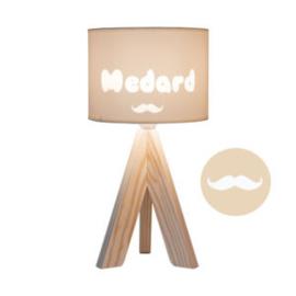 """Gepersonaliseerde sfeerlamp """"My Little Lamp"""", drie-poot/naturel"""