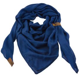 "Sjaal ""LOT83"", Puk, driehoekig donker blauw"