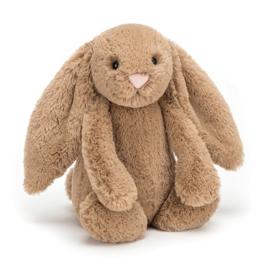 """""""JELLYCAT"""" Bashful Bunny, biscuit, met of zonder naam"""