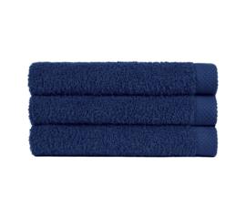 Handdoek donker blauw (50 x 100) + 1 naam geborduurd