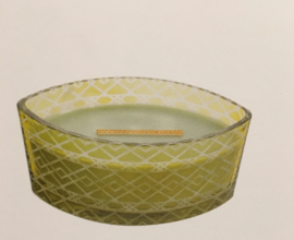 "Festive Collection Etched ""Apple Basket"" WoodWick Ellipse 50u."