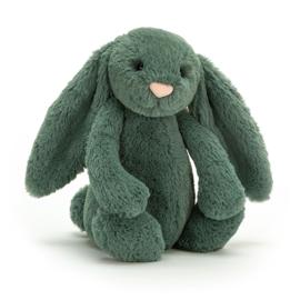 """JELLYCAT"" Bashful Bunny, forest, met of zonder naam"