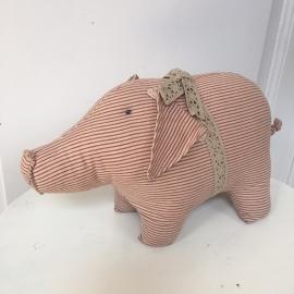 Knuffel varken rood
