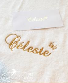 voorbeelden van geborduurde handdoeken met naam