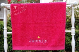 geborduurde handdoek