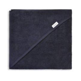 Badcape spons 80x80cm, donker blauw, met of zonder naamborduring