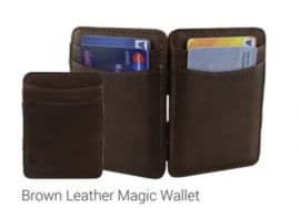 "Magic Wallet ""Hunterson"" bruin + portemonnee"
