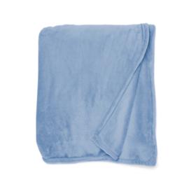 Fleecedeken 130x170 Koningsblauw + 1 naam geborduurd