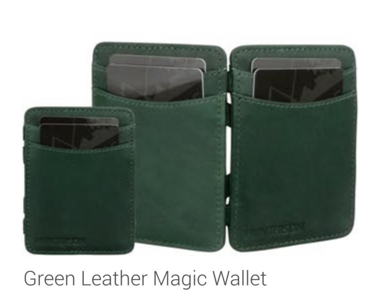 "Magic Wallet ""Hunterson"" green + portemonnee"