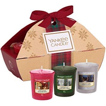 Giftbox, 3 votives, Yankee Candles