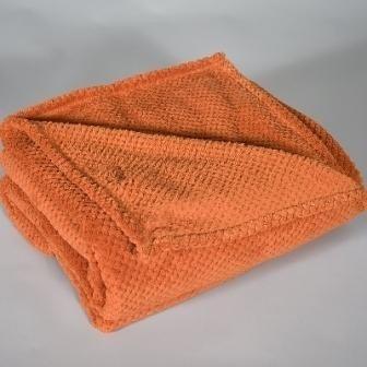 Baby fleecedekentje, oranje met of zonder naamborduring