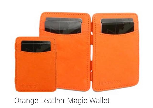 "Magic Wallet ""Hunterson"" oranje + portemonnee"