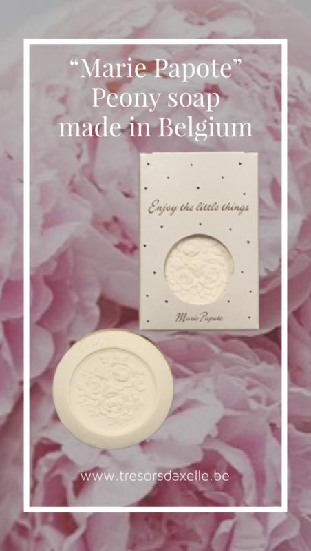 """""""Marie Papote, Enjoy the little things"""" geurzeep -Peony soap- 75 gr"""