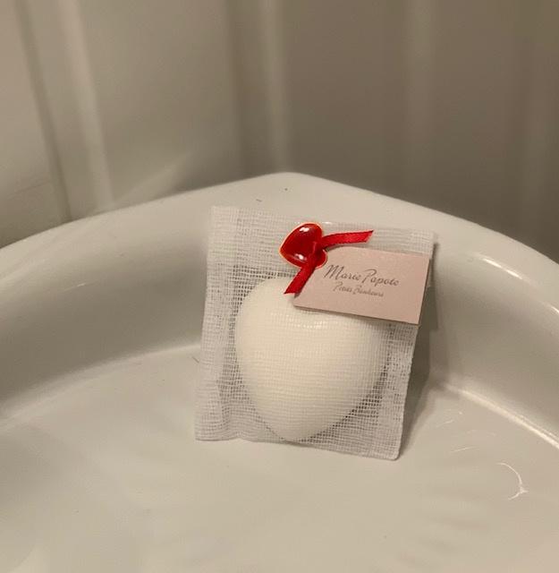 """""""Marie Papote"""" geurzeepje hart -Tea soap- 38 gr"""