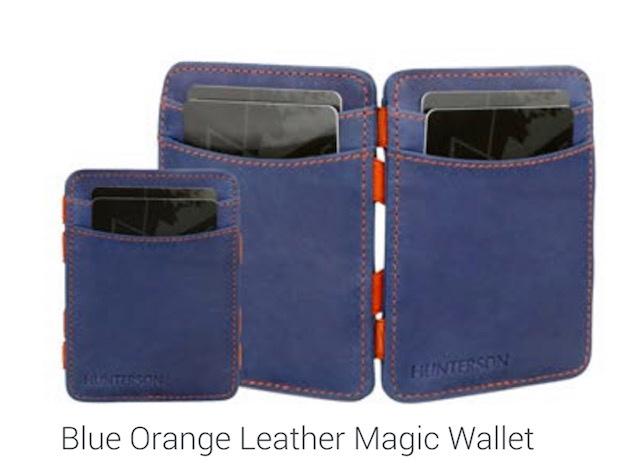 "Magic Wallet ""Hunterson"", blauw/oranje"