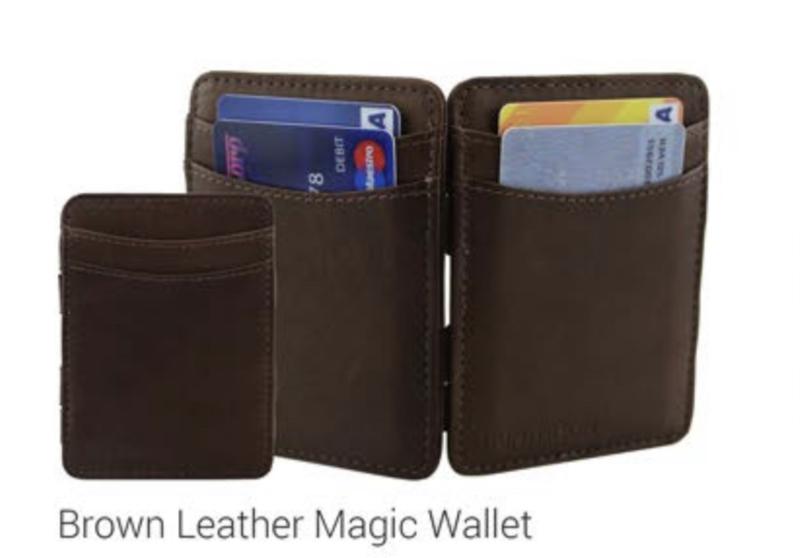 "Magic Wallet ""Hunterson"" bruin + portemonnee"