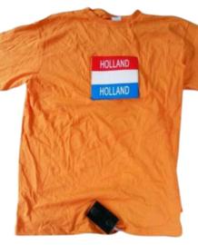 30  Oranje rood wit blauw  led t-shirts