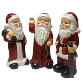 Kerstman beeldjes trio