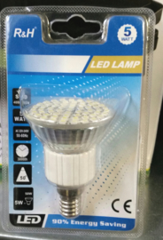 Ledlamp 5 watt kleine fitting
