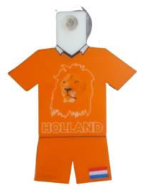 4x Oranje leeuw raamhanger