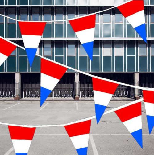 Vlaglijn rood wit blauw 10 meter