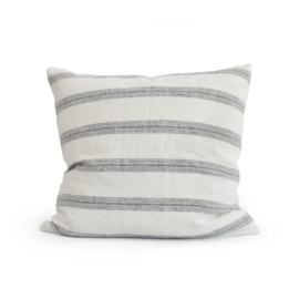 linen pillow case LINES charcoal