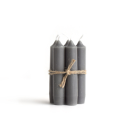 short dinner candle DARK GREY