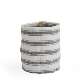 windlicht linnen STRIPE charcoal